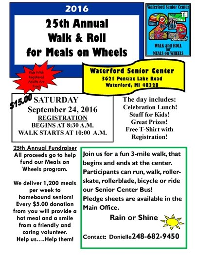 Walk and roll for meals on wheels