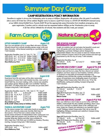 farm & nature camps