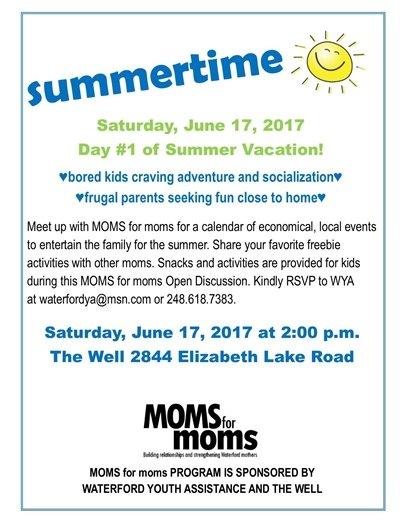 summertime moms for moms