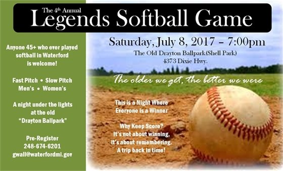 Legends Softball Game
