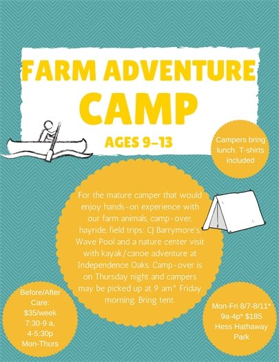 Farm Adventure Camp