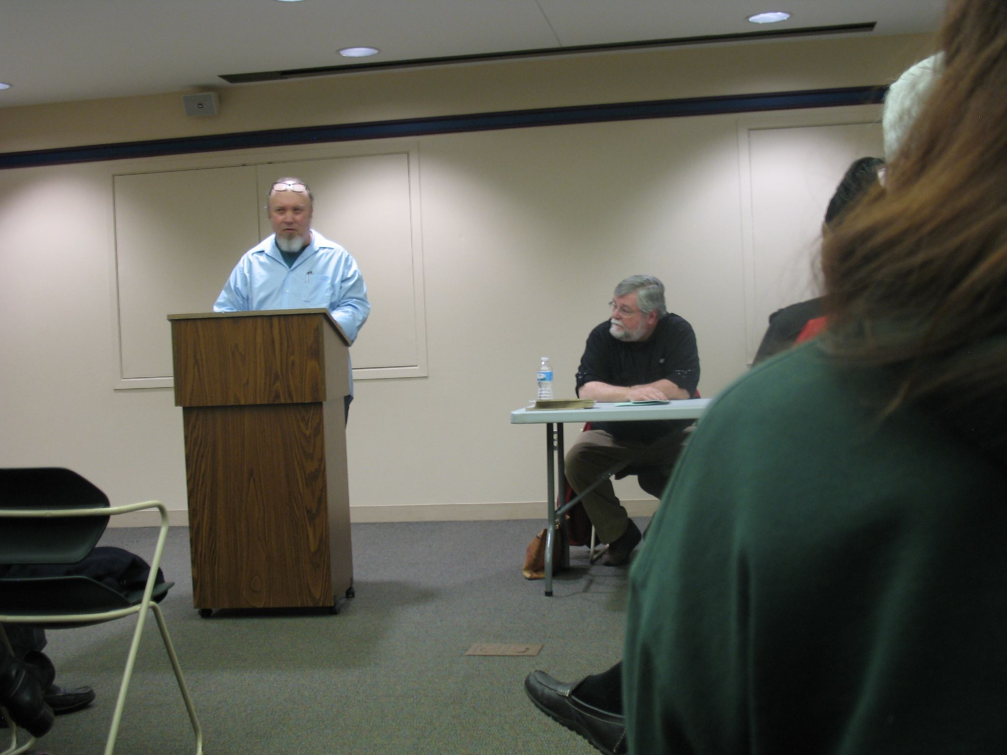 Glen Armstrong moderating Poetry Reading April 7 2016 (3)