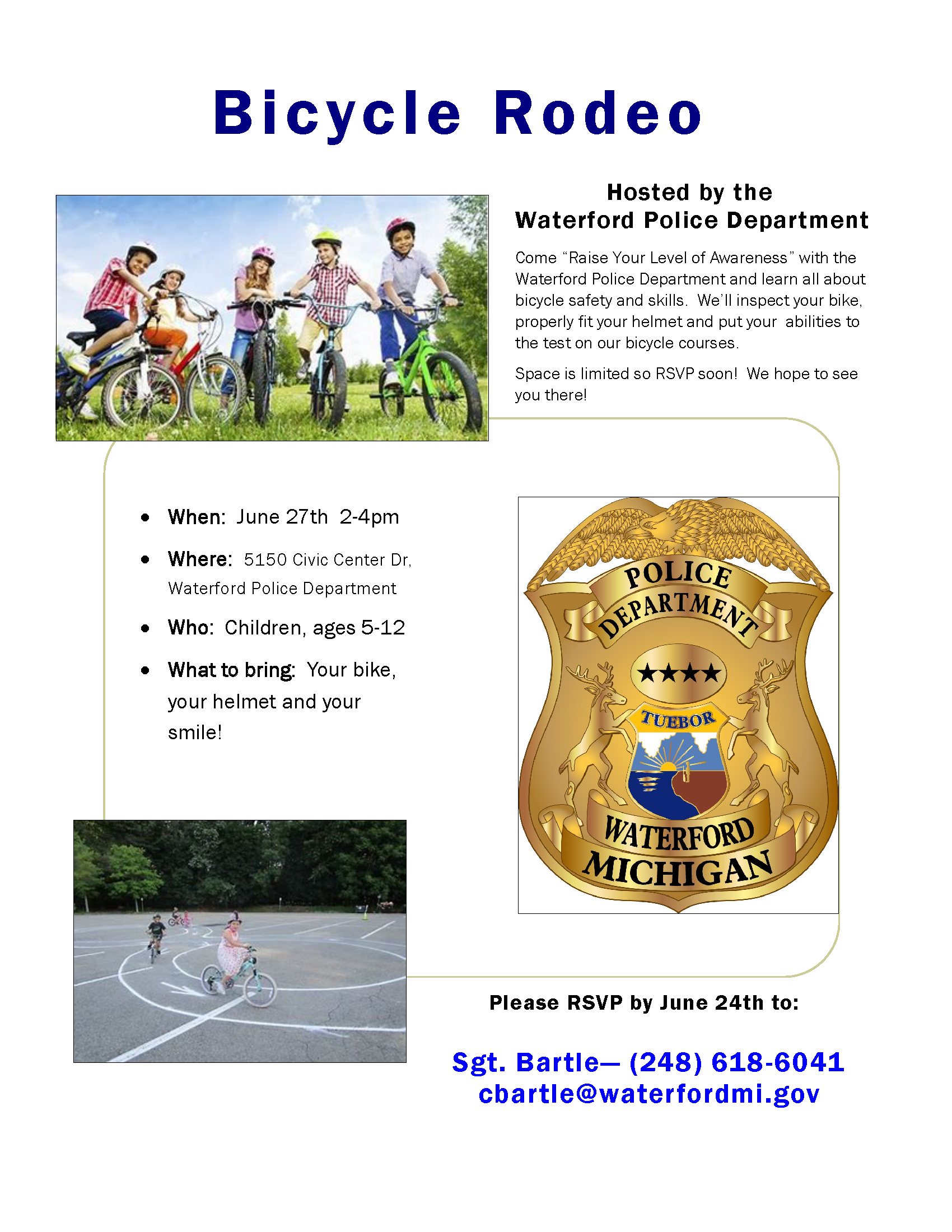 June 27th Bicycle Rodeo