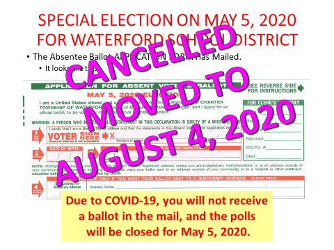May 5th Election Cancelled