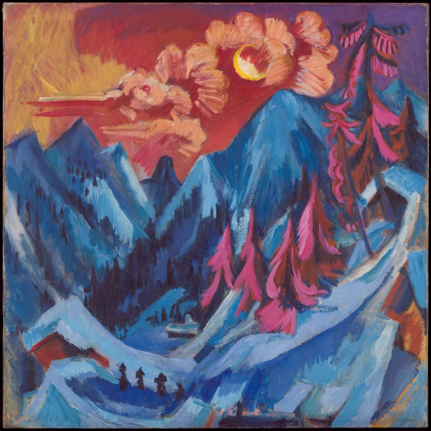 Winter Landscape in Moonlight by Ernst Ludwig Kirchner